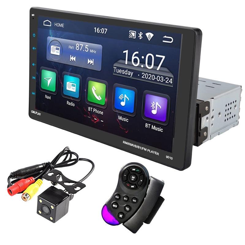 9 дюймов HD сенсорный Экран автомобиль радио GPS multi-язык USB FM 9010A 12V красочные светильник Bluetooth 4,2 Wi-Fi MP5 FM для Ios и Android