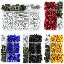 مجموعة مسامير ربط البراغي الكاملة المصنوعة من الألومنيوم لسيارات BMW S1000R S1000RR HP4 R1200RS G310R S1000XR R1150R R1200R باستخدام الحاسوب