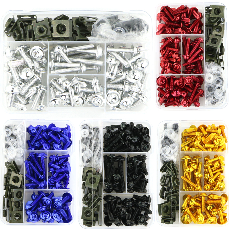 For BMW S1000R S1000RR HP4 R1200RS G310R S1000XR R1150R R1200R CNC Aluminum Complete Full Fairing Bolts Kit Screws Nuts Clips