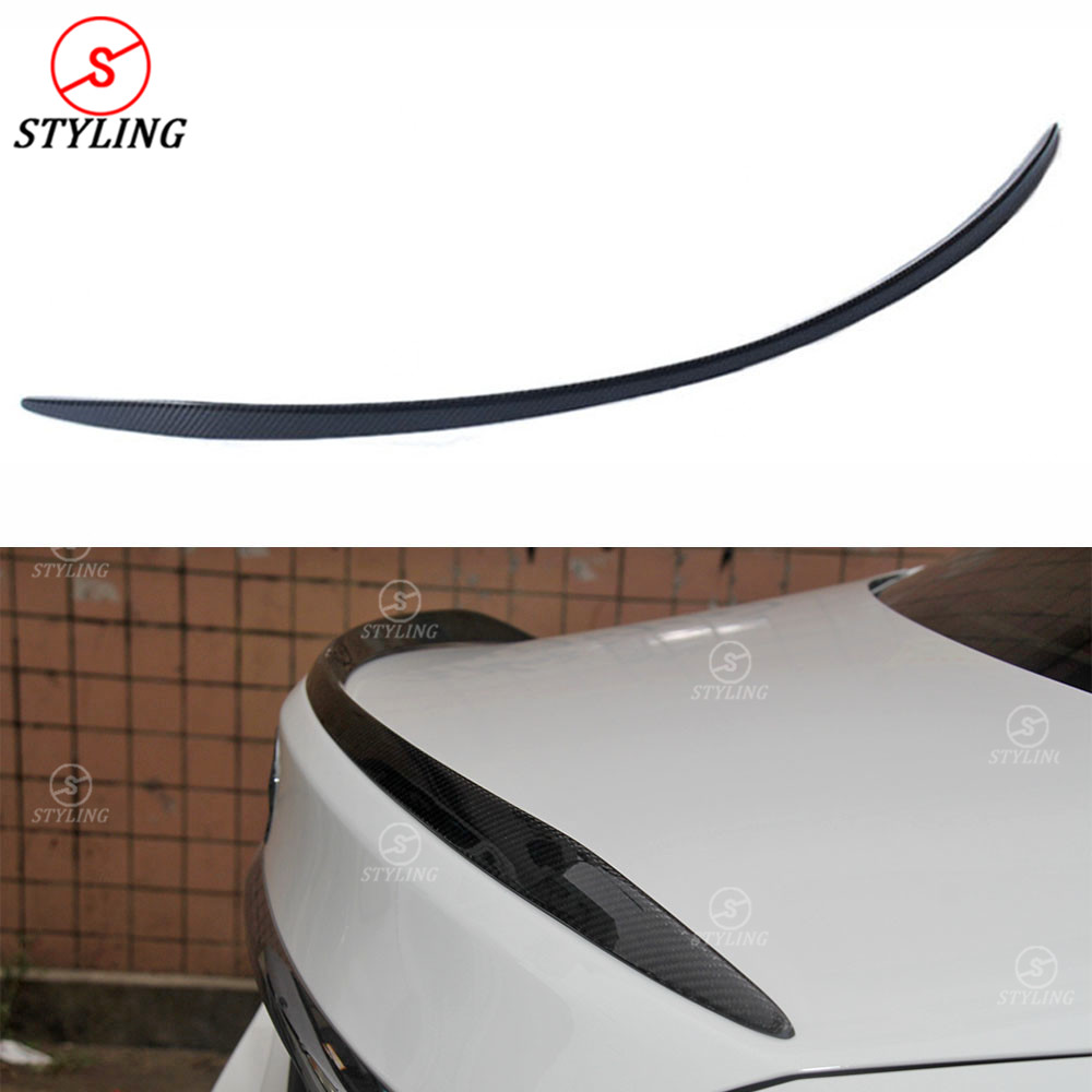 W205 Coupe Carbon Spoiler C63 Style For Mercedes benz C300 C200 C260 C250 Rear trunk spoiler wing 2014 2015 2016 2017 2018 2019 Spoilers & Wings     - title=