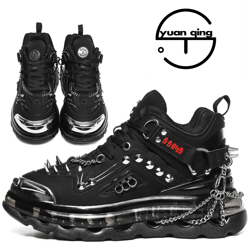 New Microfiber Sneakers, Men's Fashion Sports Running shoes, Punk Martin Boots and Breathable Cushioned High heels.