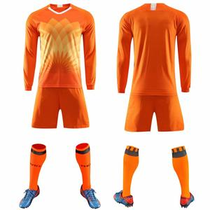 Image 4 - 2019 Long sleeve Children Sets football uniforms boys and girls sports kids youth training suits blank custom game soccer set