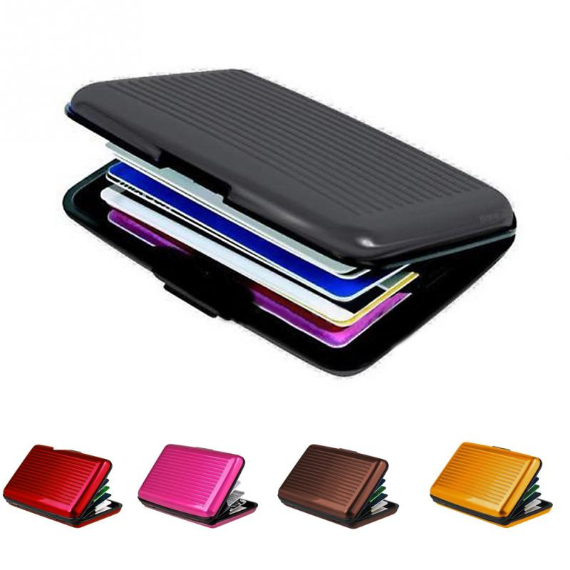ID Credit Card Wallet Holder Antimagnetic Waterproof Aluminum Cards Holder Pocket Wallet Holder Business Metal Pocket Mini Case