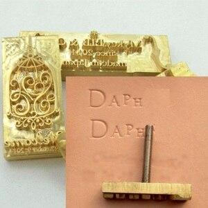 Image 3 - 真鍮金型木材革スタンプカスタムロゴデザインブランディングパーソナルケーキパン金型暖房エンボスパーソナライズされたクリシェ
