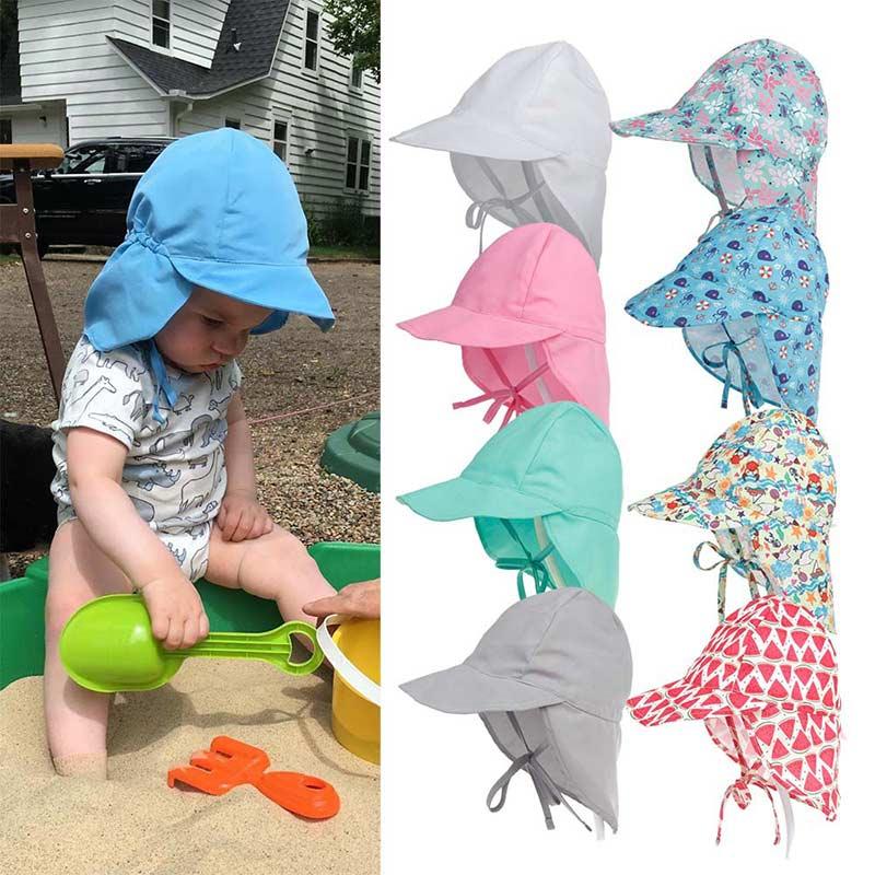 Быстросохнущие детские Панама l для детей от 3 месяцев до 5 лет, пляжные солнцезащитные шапки с широкими полями и защитой от ультрафиолета дл...