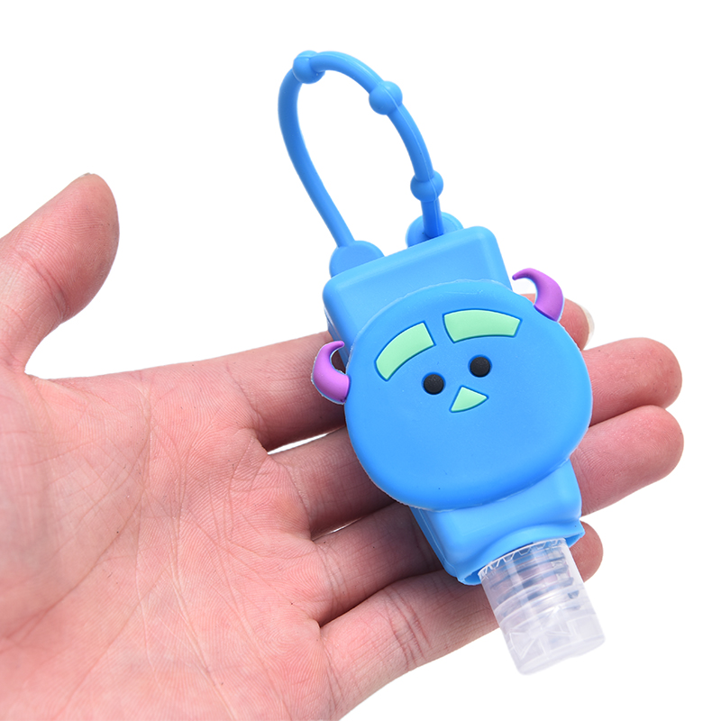 1PCS 30ml Cute Silicone Mini Hand Sanitizer Hand Gel Holder Portable Safe Gel Holder Travel Shampoo Soap Dispenser Bottle 6