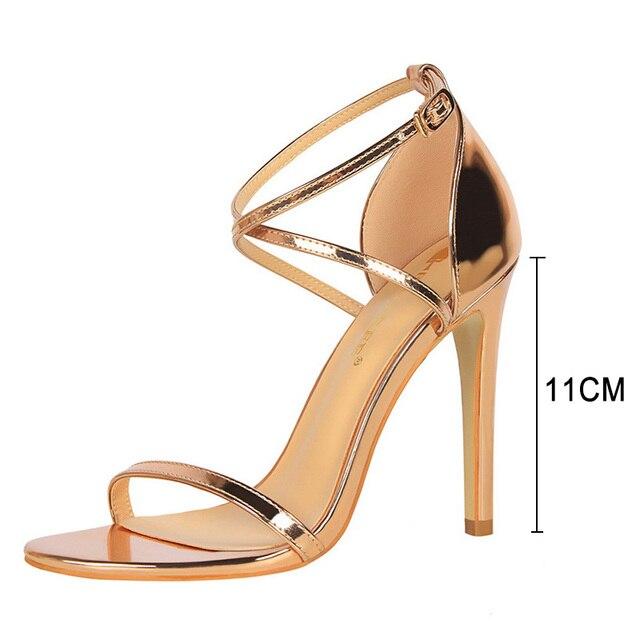 Buckle Strap High Heeled Sandals  6