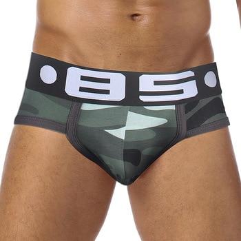 Sexy Men Underwear Ropa Interior Hombre Men's Cotton Briefs Cueca Masculina Camouflage U Convex Soft Comfortable Breathable - discount item  24% OFF Men's Underwears
