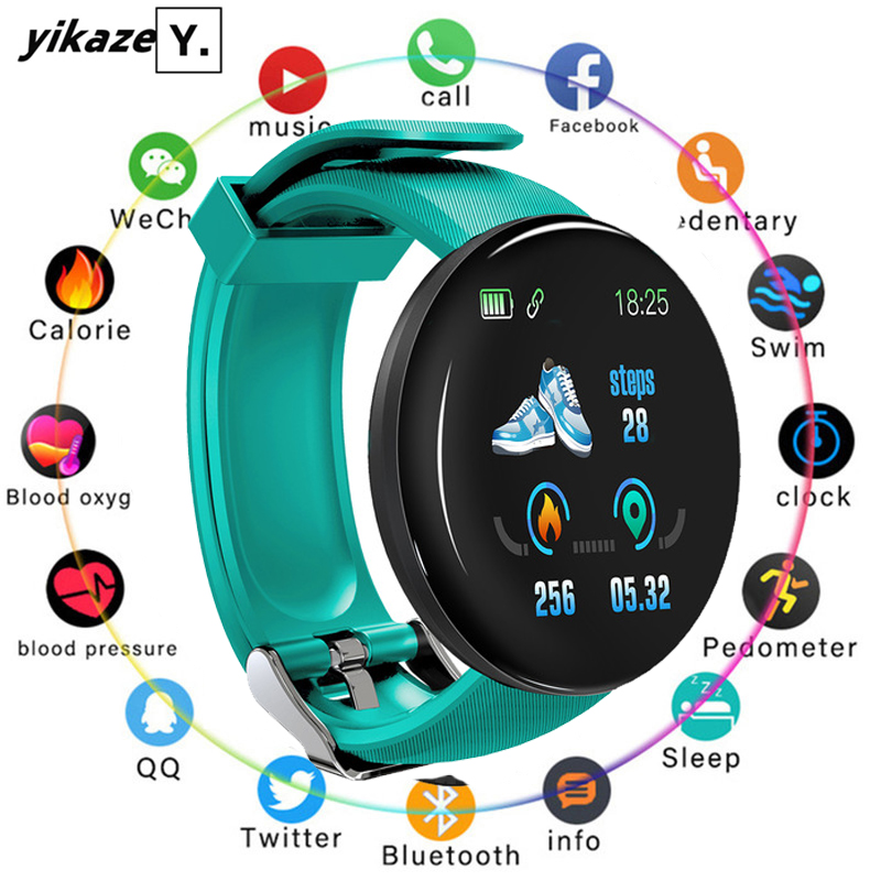 Smart Watch Round Heart Rate Fitness Tracker Watches Blood Pressure Monitor Smartwatch Men Women Bluetooth Clock for Android IOS