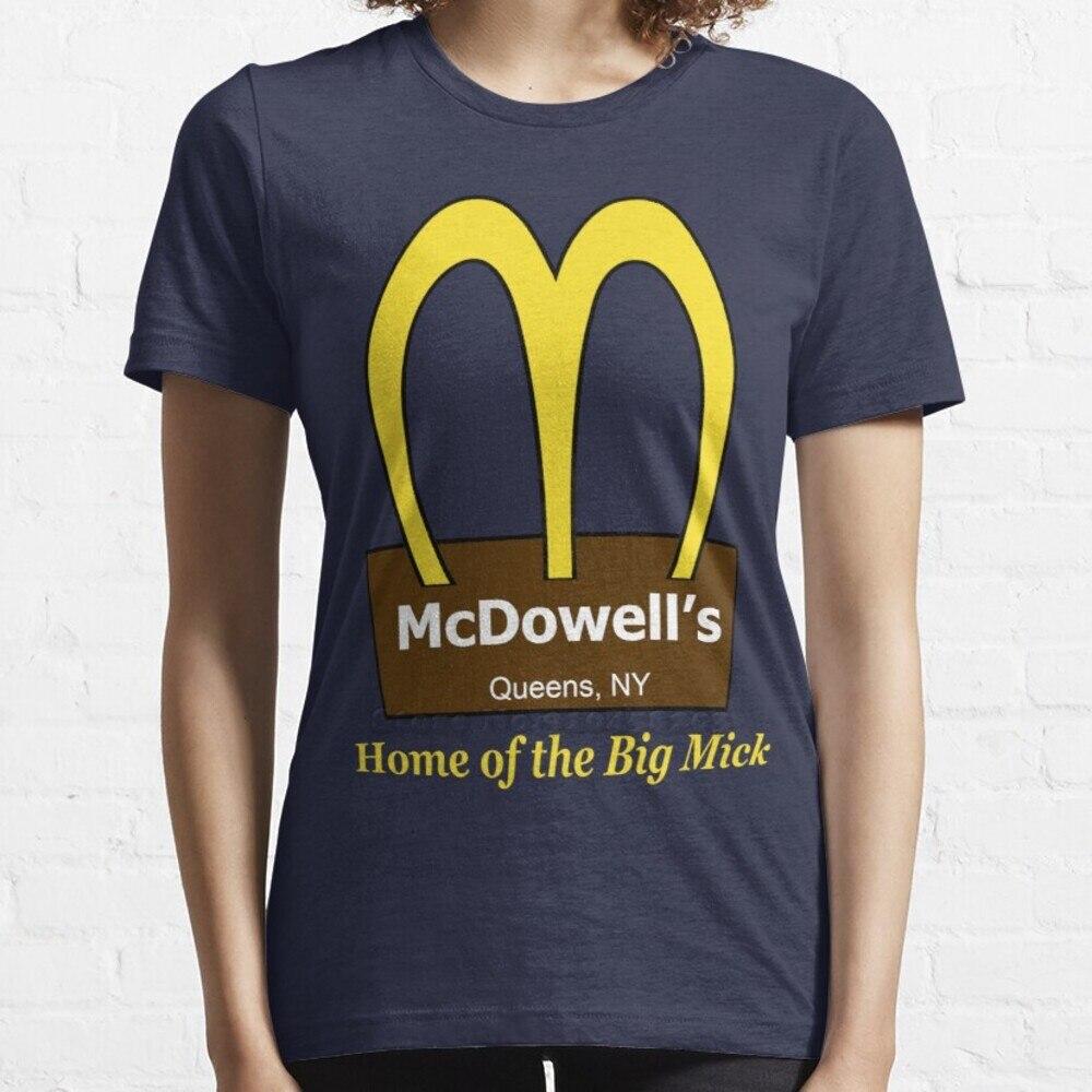 Поступление в США: короткая футболка с рукавом макдовелла, уличная Футболка Harajuku, высококачественные футболки, топы, приезжающие в Америку
