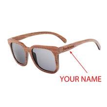Мужские деревянные солнцезащитные очки BOBO BIRD, поляризованные темные очки из бамбукового ореха с УФ защитой, гравировкой на заказ, солнцезащитные очки в деревянной подарочной коробке