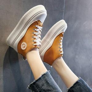 Image 4 - SWYIVY بولي ivy Chaussure فام جديد حذاء كاجوال امرأة أحذية رياضية 2020 الربيع منصة أحذية رياضية للنساء موضة الأخضر السيدات حذاء 39