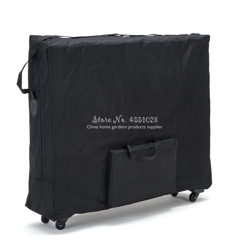Push-pull Folding Storage Bag For Massage Bed Beauty Bed Waterproof Backpack With Wheel Wear-resistant Oxford Cloth 93*60cm