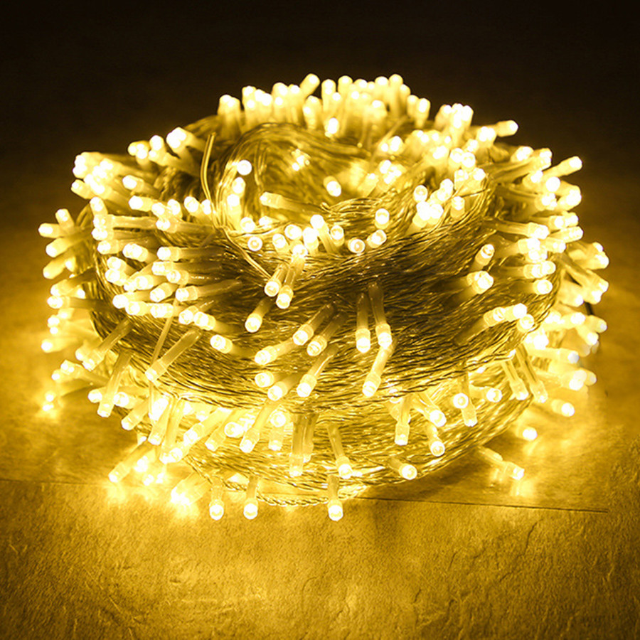 Thrisdar 100M 200M 300M LED String Garland Christmas Fairy Light Outdoor Garden Holiday Wedding Party Twinkle Star Garland Light