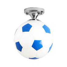 Crianças varanda esporte vidro interior barra de café para meninos iluminação luminária led luz sala crianças forma futebol