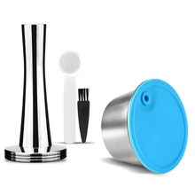 Coffee-Capsule-Set DOLCE-GUSTO with Tamper Spoon Stainless-Steel for