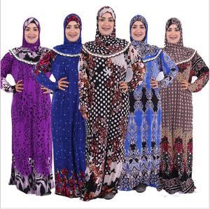Image 2 - (לבחור צבע & פרח דפוס) מוסלמי נשים של תפילת גלימה מזרח התיכון העבאיה