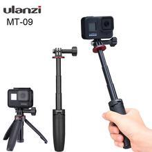 Ulanzi MT 09 extensível vlog tripé para gopro hero 9 8 7 6 5 4 preto sjcam câmeras de ação