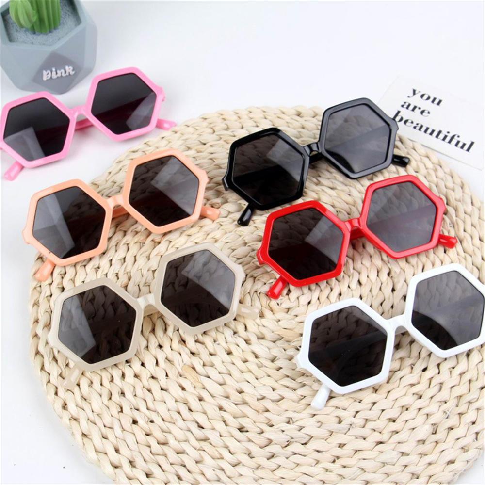 Kids Stylish Rhombus Sunglasses Vintage Girls Cute Sun Glasses Party Eyewear Shades Lovely Children Students Gift