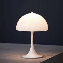 Nowoczesna lampa stołowa grzyb lampka nocna do sypialni Louis Poulsen Panthella lampa biurkowa biuro studium oświetlenie do czytania oprawy tanie tanio BVLAMSSI ROHS CN (pochodzenie) Łóżko pokój WHITE Dół BT254 iron Ue wtyczka 90-260 v Dotykowy włącznik wyłącznik