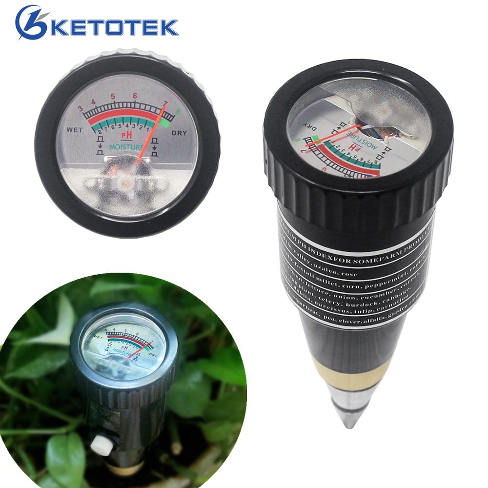 High Sensitivity 2 In 1 Pen Type PH Meter Soil Acidity Meter Soil Moisture Monitor For Garden PH Tester Hygrometer