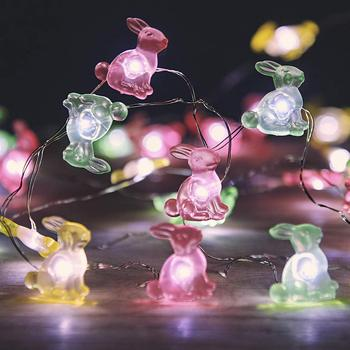 Luces LED de cuerda de conejo de Pascua de alambre de cobre con batería de 3M para decoración del hogar de fiesta de Festival de guirnalda para Navidad, boda