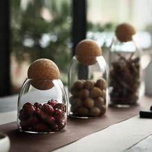 Sealed Can Kitchen Glass Storage Tank Cans Food Grains Multi Function Storages Container Jar Tea Vessel Tool