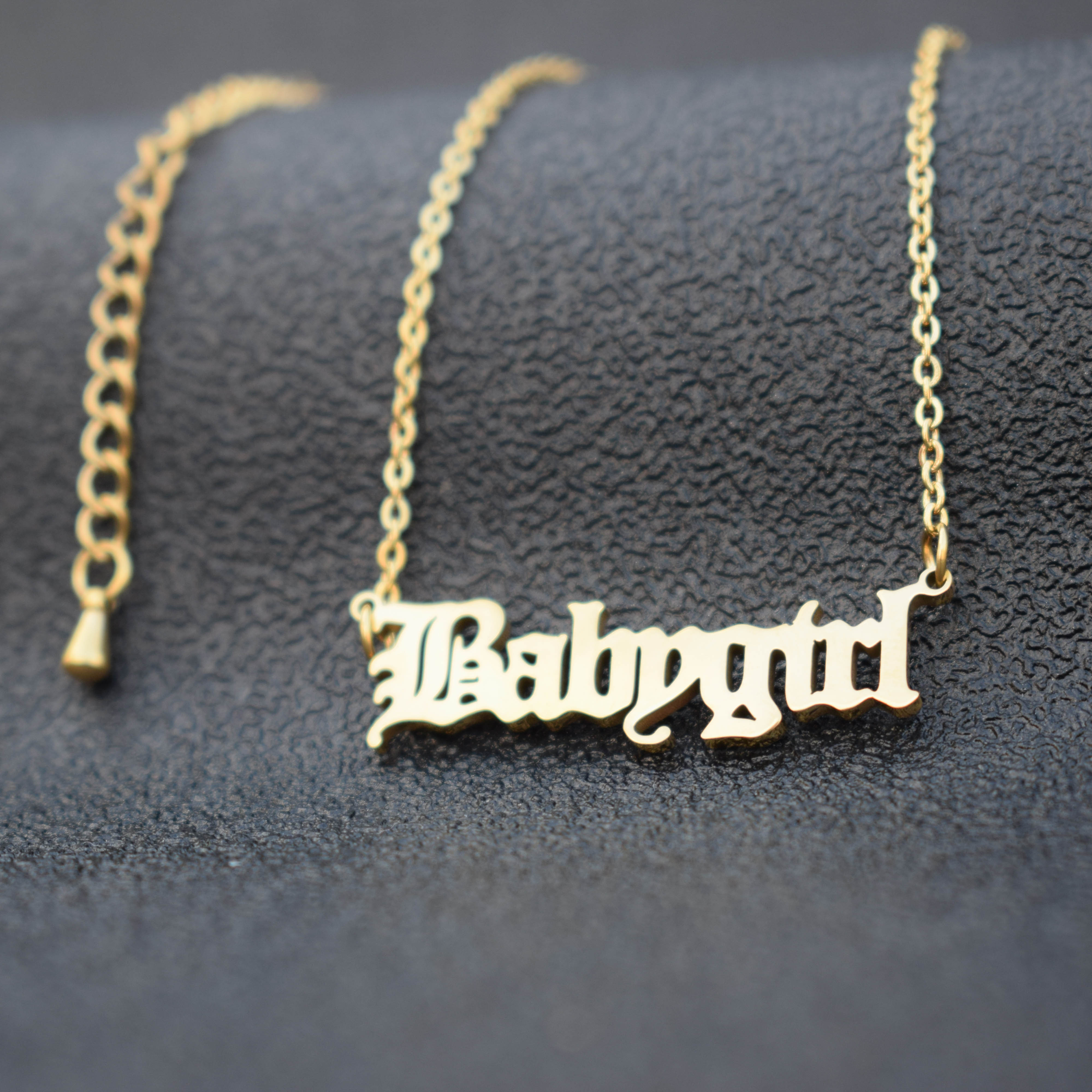 Customized Stainless Steel Personalized Jewelry Babygirl Name Pendant Necklace For Women Birthday Gift