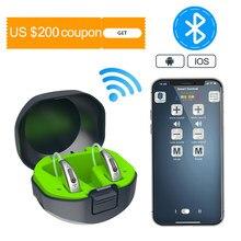 Best 20 channel Rechargeable Digital Hearing Aids Bluetooth Mini OE Ear Sound Amplifier Enhancer Wireless Hearing Aids Ear Care