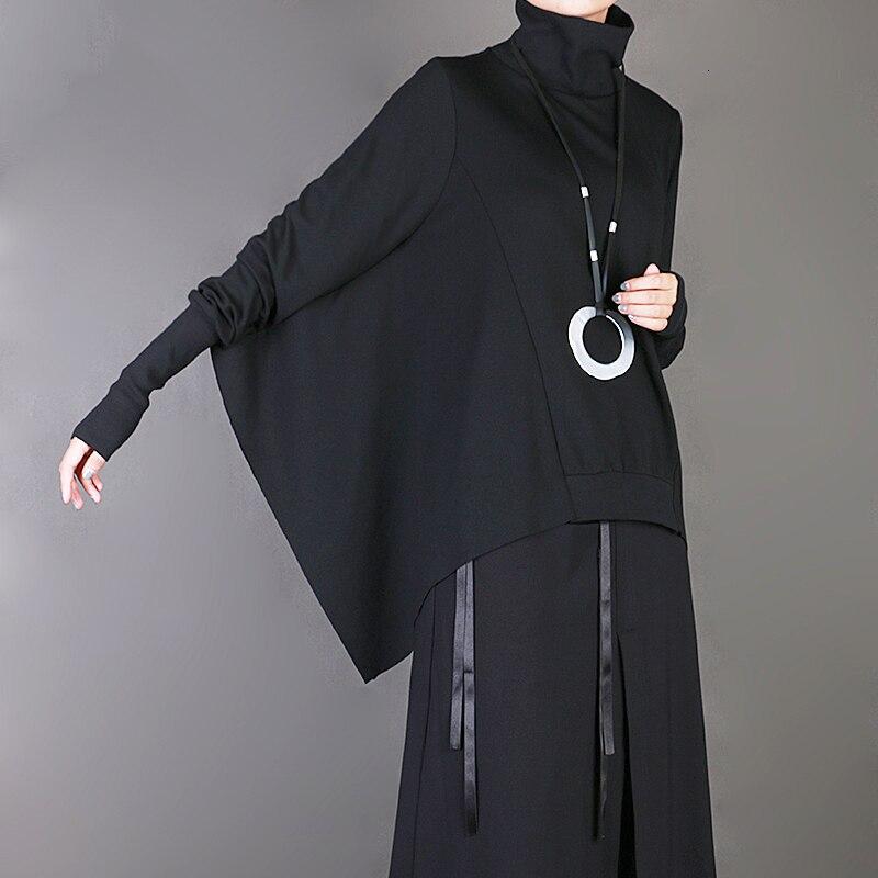 New Fashion Style High Collar Brief Long Batwing Sleeve Big Size Sweatshirt Fashion Nova Clothing