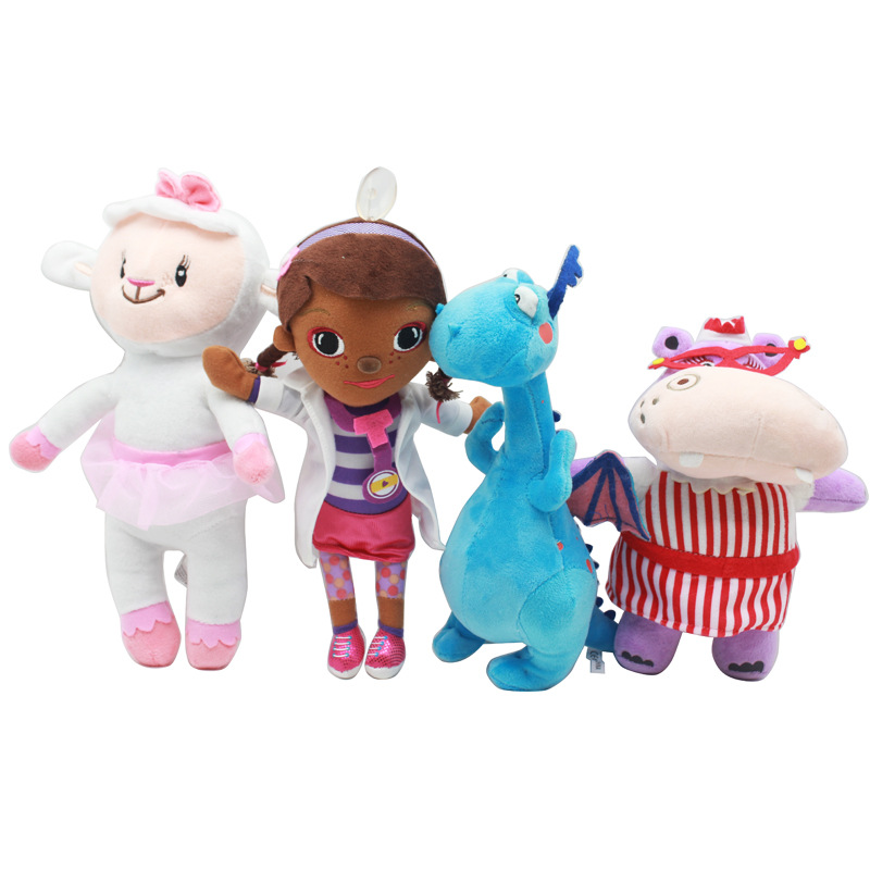 New Arrivals 30cm Plush Toy Doctor Doc McStuffins Dottie Hippo Sheep Animal Stuffed Plush Doll Children Kids Best Baby Gift