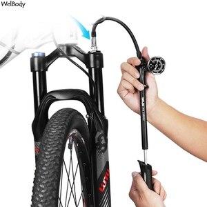 Воздушный амортизатор высокого давления для вилок, задняя подвеска, велосипедный мини шланг, Надувное устройство, Schrader, Велосипедная вилка ...