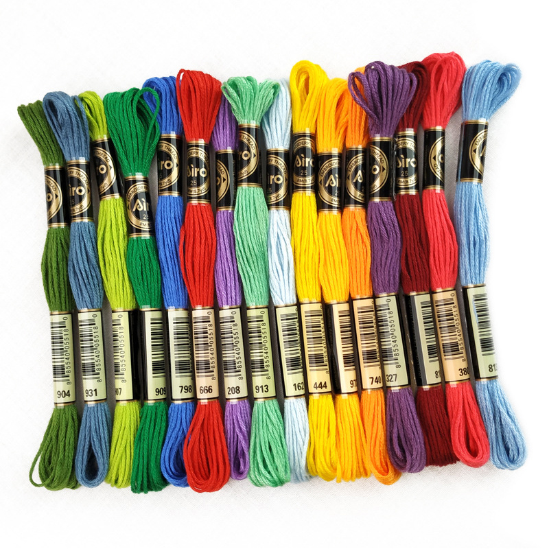 50 Multi Colors Cross Stitch Cotton Sewing Skeins Embroidery Thread Floss Kit