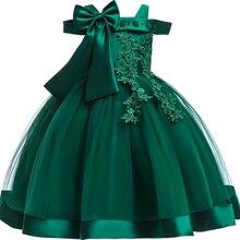 14€ Bordado de seda vestido de princesa para niñas. Vestidos Elegantes de flores para niñas.Navidad fiestas de invierno. 2020
