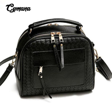 Fashion Weave Shoulder Bag 2019 PU Leather Bag Small Casual Cross Body Bag Retro Totes Messenger Bag For Women sac a main