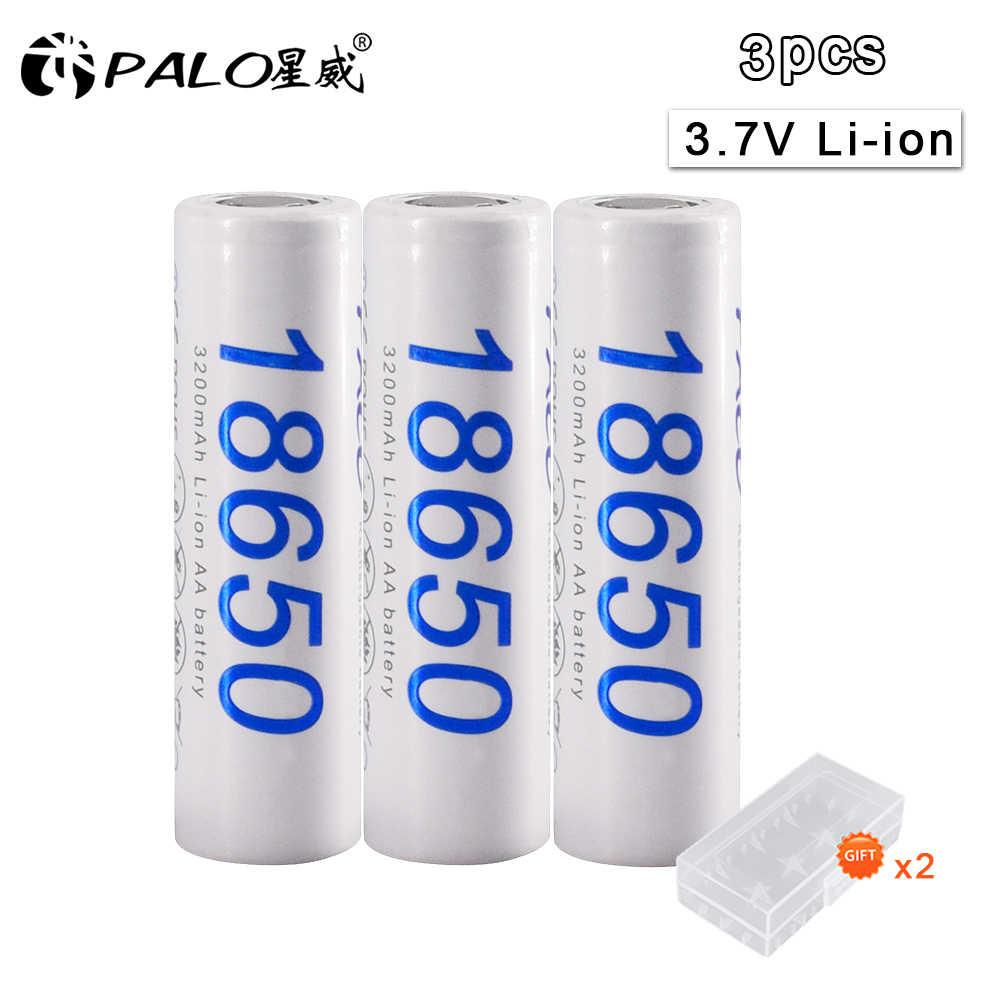 パロ 100% オリジナルパロ新 DBHE41865 3200 mah リチウム電池 18650 3.7 5v 電源充電式電池懐中電灯バッテリー