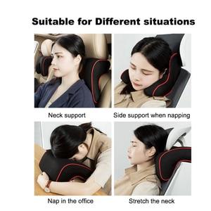 Image 5 - Gomma Piuma di Memoria di Purenlatex 3Pcs Set Cuscino Auto Poggiatesta Del Sedile Posteriore Cuscino di Protezione Del Collo Vertebra Cervicale Auto Supporto Della Vita Lombare