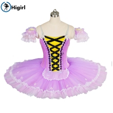 Purple  professional tutu ballet costume adult for sale nutcracker women pancake BT8964B