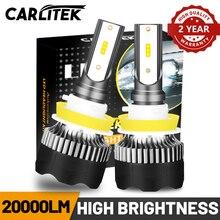 CARLITEK H8 Led Scheinwerfer Lampen 20000LM 6000K H9 H4 H7 H11 Auto Lichter Mini Größe Für Auto HB3 9005 HB4 9006 Lampen Turbo Universal