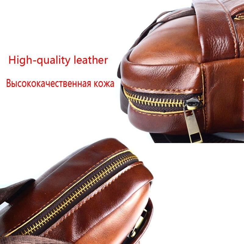 AETOO de cuero genuino bolso de cuero real para portátil bolsos de negocios de cuero de vaca para hombre Bolso bandolera de viaje para hombre maletín de cuero marrón - 4