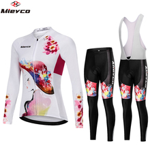 Womens Cycling Clothing Gel-Pants Bike-Set Ciclismo Female Feminino Motocross Roupa