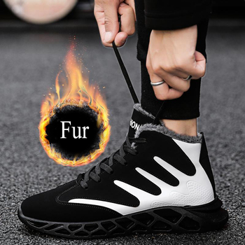 Men Sneakers Male Shoes Adult Casual Quality Rubber Ankle Warm Boots 2019 Fashion Winter With Fur Snow Boots For