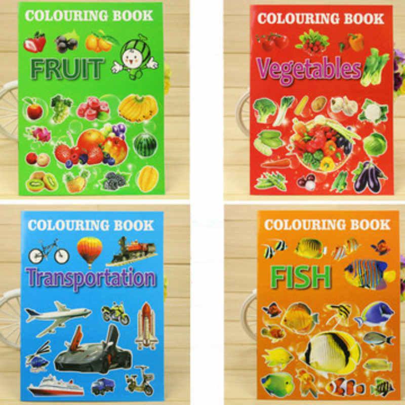 Детская книжка раскраска для детей от 2 до 6 лет Рисование граффити о фруктах