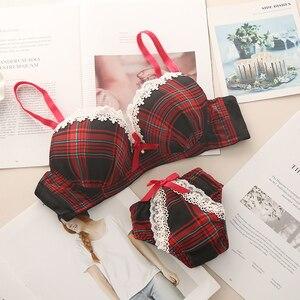 Image 3 - Kadınlar seksi noel cosplay tatil iç çamaşırı dantel sutyen üst Mini dantel külot seti 4760