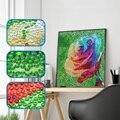 Алмазная живопись особой формы, красочная роза, цветок, аниме, узор «сделай сам», 5D полный набор для вышивки крестиком, кристаллы