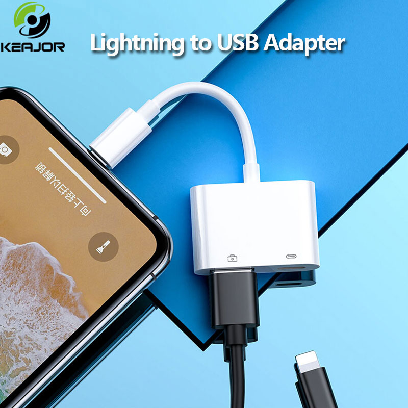 Lightning To OTG USB 3.0 Adapter For IPhone IPad IOS13 OTG Adapter Camera Reader U Disk Mouth Keyboard Date Converter Adapter