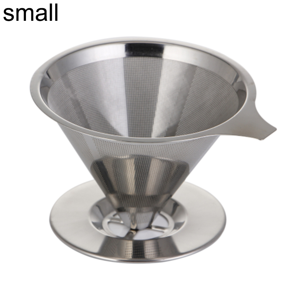 Pour Over Coffee Dripper With Cup Stand Cone Filter Reusable Coffee Filter Stainless Steel Hand Coffee Filter Tea Strainer Filte