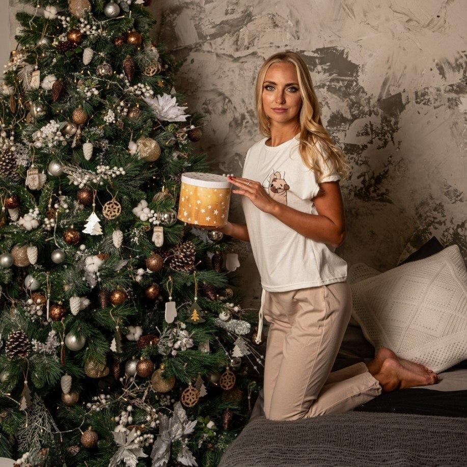 Atoff Home Women's Pajamas ZHP 010/4 (beige + Milky)