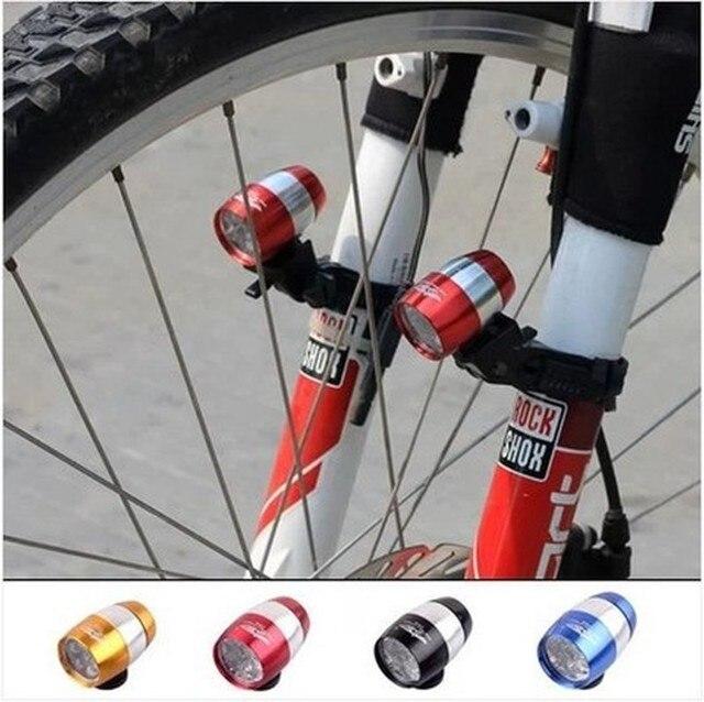 Luzes da bicicleta à prova dwaterproof água ultra brilhante 6 led bicicleta frente cabeça luz liga de alumínio mini segurança ciclismo lanterna luzes 1