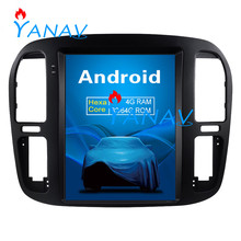 цена на 12.1 inch Android 9.0 WiFi/4G GPS Navigation For-TOYOTA LAND CRUISER 1999-2002 Vertical Touch Screen Radio Player Car Stereo
